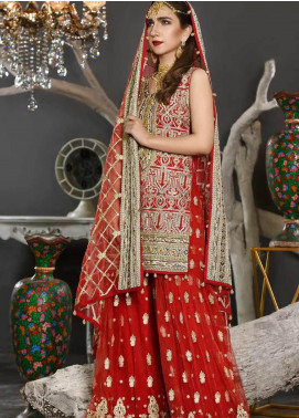 Freesia by Maryum N Maria Embroidered Chiffon Unstitched 3 Piece Suit FMM19EC 810 MAJESTIC ICON - Luxury Collection