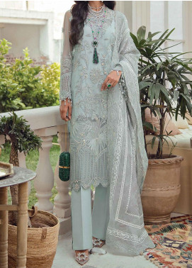 Freesia Suffuse by Sana Yasir Embroidered Net Unstitched 3 Piece Suit FRS20L Morenci - Luxury Collection