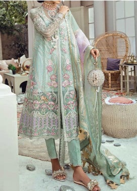 Freesia Suffuse by Sana Yasir Embroidered Net Unstitched 3 Piece Suit FRS20L Zeb - Luxury Collection