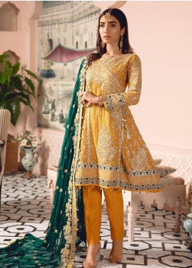 Freesia by Maryum N Maria Embroidered Chiffon Unstitched 3 Piece Suit FMM19-C2 02 - Luxury Collection