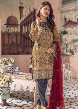 Freesia by Maryum N Maria Embroidered Chiffon Unstitched 3 Piece Suit FMM19-C2 03 - Luxury Collection