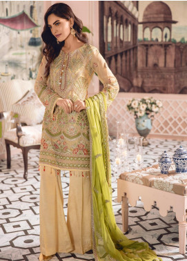 Freesia by Maryum N Maria Embroidered Chiffon Unstitched 3 Piece Suit FMM19-C2 04 - Luxury Collection