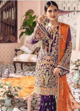 Freesia by Maryum N Maria Embroidered Chiffon Unstitched 3 Piece Suit FMM19-C2 05 - Luxury Collection