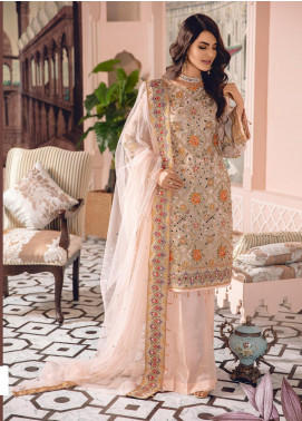 Freesia by Maryum N Maria Embroidered Chiffon Unstitched 3 Piece Suit FMM19-C2 06 - Luxury Collection