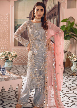 Freesia by Maryum N Maria Embroidered Net Unstitched 3 Piece Suit FMM19-C2 07 - Luxury Collection
