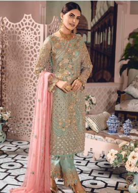 Freesia by Maryum N Maria Embroidered Net Unstitched 3 Piece Suit FMM19-C2 09 - Luxury Collection