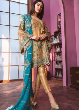 Freesia by Maryum N Maria Embroidered Missouri Unstitched 3 Piece Suit FMM20C 02 ACUSTIC PEARLS - Luxury Collection
