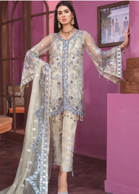 Freesia by Maryum N Maria Embroidered Net Unstitched 3 Piece Suit FMM20C 03 LAASIMET CSENT - Luxury Collection