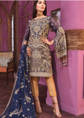 Freesia by Maryum N Maria Embroidered Chiffon Unstitched 3 Piece Suit FMM20C 06 Royal Line - Luxury Collection