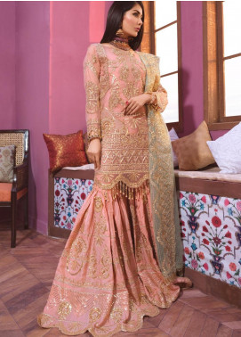 Freesia by Maryum N Maria Embroidered Organza Unstitched 3 Piece Suit FMM20C 08 Oramil Lit - Luxury Collection
