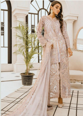 Freesia by Maryum N Maria Embroidered Net Unstitched 3 Piece Suit FMM20PC 04 Angel Hour - Premium Collection