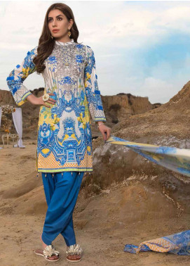 Freesia By Maryum N Maria Embroidered Lawn Unstitched 3 Piece Suit FMM19L 07 AMRAZA - Spring / Summer Collection