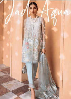 Freesia by Suffuse Embroidered Organza Stitched 3 Piece Suit FRS19O JADE AQUA