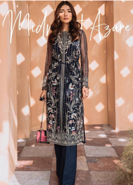 Freesia by Suffuse Embroidered Organza Stitched 3 Piece Suit FRS19O MIDNIGHT AZURE
