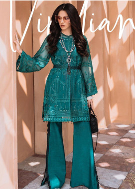 Freesia by Suffuse Embroidered Organza Stitched 3 Piece Suit FRS19O VIRIDIAN