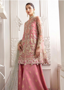 Freesia by Suffuse Embroidered Net Unstitched 3 Piece Suit FRS19W Amaranth - Wedding Collection