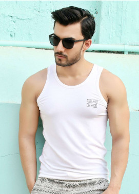 Furor  Printed Men Tank Tops - White FRM18TT 006