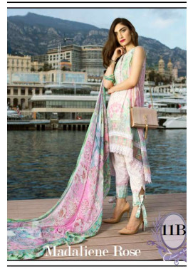 Farah Talib By LSM Embroidered Lawn Unstitched 3 Piece Suit FT17L 11B
