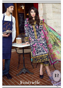 Farah Talib By LSM Embroidered Lawn Unstitched 3 Piece Suit FT17L 12