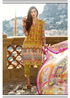 Farah Talib By LSM Embroidered Lawn Unstitched 3 Piece Suit FT17L 3A