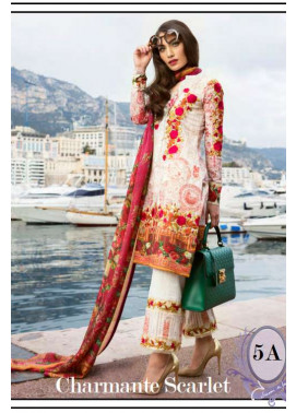 Farah Talib By LSM Embroidered Lawn Unstitched 3 Piece Suit FT17L 5A