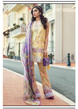 Farah Talib By LSM Embroidered Lawn Unstitched 3 Piece Suit FT17L 8B