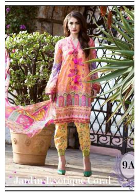 Farah Talib By LSM Embroidered Lawn Unstitched 3 Piece Suit FT17L 9A