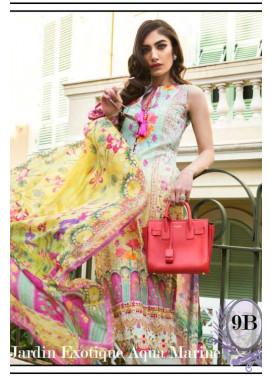 Farah Talib By LSM Embroidered Lawn Unstitched 3 Piece Suit FT17L 9B