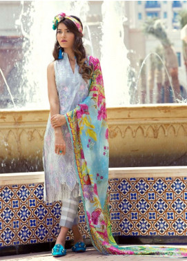 Farah Talib Embroidered Lawn Unstitched 3 Piece Suit FT18E 09 - Eid Collection
