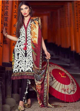 Farah Talib By LSM Embroidered Lawn Unstitched 3 Piece Suit FT18L 01 - Spring / Summer Collection