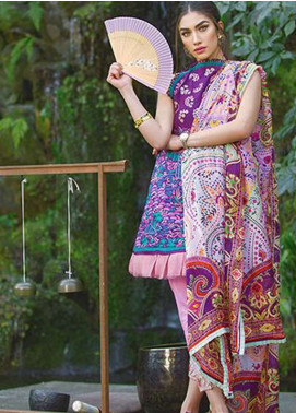 Farah Talib By LSM Embroidered Lawn Unstitched 3 Piece Suit FT18L 05 - Spring / Summer Collection