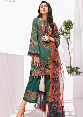 Rang Fuchsia by Baroque Embroidered Lawn Unstitched 3 Piece Suit BQ20F CHAMAN 02 - Spring / Summer Collection