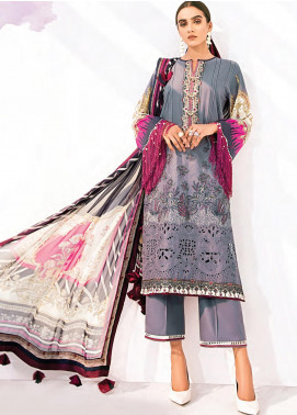 Rang Fuchsia by Baroque Embroidered Lawn Unstitched 3 Piece Suit BQ20F GUL E BAHAR 06 - Spring / Summer Collection