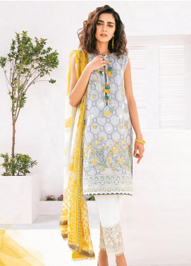 Rang Fuchsia by Baroque Embroidered Lawn Unstitched 3 Piece Suit BQ20F OSS 07 - Spring / Summer Collection