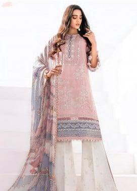 Rang Fuchsia by Baroque Embroidered Lawn Unstitched 3 Piece Suit BQ20F SEHAR 10 - Spring / Summer Collection