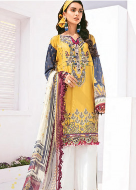 Rang Fuchsia by Baroque Embroidered Lawn Unstitched 3 Piece Suit BQ20F SOSNY 05 - Spring / Summer Collection