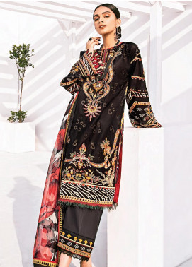 Rang Fuchsia by Baroque Embroidered Lawn Unstitched 3 Piece Suit BQ20F SUNMBAL 09 - Spring / Summer Collection