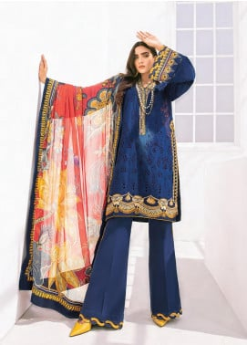 Rang Fuchsia by Baroque Embroidered Lawn Unstitched 3 Piece Suit BQ20F VASL 11 - Spring / Summer Collection