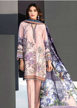 Fuchsia By Baroque Embroidered Linen Unstitched 3 Piece Suit FC18-L2 06 - Winter Collection