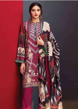 Fuchsia By Baroque Embroidered Linen Unstitched 3 Piece Suit FC18-L2 09 - Winter Collection