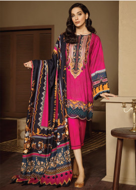 Fuchsia by Baroque Embroidered Linen Unstitched 3 Piece Suit FC19LN 02 THULIAN - Formal Collection