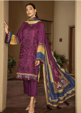 Fuchsia by Baroque Embroidered Linen Unstitched 3 Piece Suit FC19LN 04 LISTERAN - Formal Collection