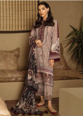 Fuchsia by Baroque Embroidered Linen Unstitched 3 Piece Suit FC19LN 09 LAIM  - Formal Collection