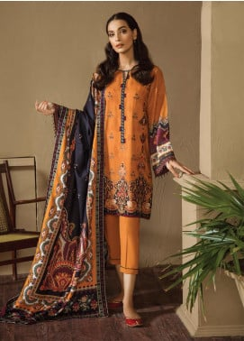 Fuchsia by Baroque Embroidered Linen Unstitched 3 Piece Suit FC19LN 10 OGAN - Formal Collection