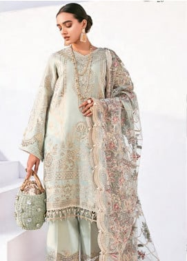 Rang Fuchsia by Baroque Embroidered Lawn Unstitched 3 Piece Suit BQ20F BAMCHAL 04 - Spring / Summer Collection