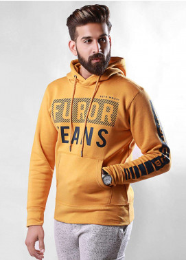 Furor Cotton Winter Hoodies for Men - Mustard FMTH18-001