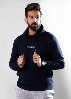 Furor Cotton Winter Men Hoodies - Navy Blue FMTH18-008