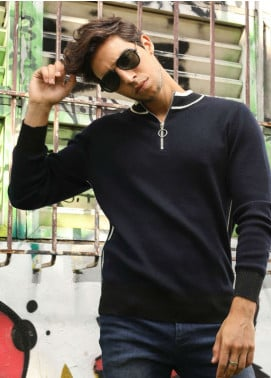 Furor Jersey Casual Sweatshirts for Men - Navy Blue 017229