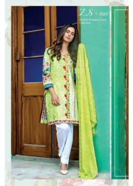 ZS Textile Embroidered Lawn Unstitched 3 Piece Suit FV17L 02