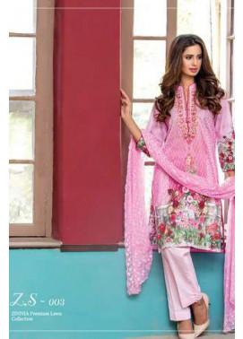 ZS Textile Embroidered Lawn Unstitched 3 Piece Suit FV17L 03